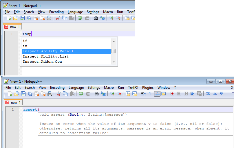 Rift Lua auto complete for Notepad++ : Developer Utilities